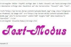 HTML-Code im Text-Modus