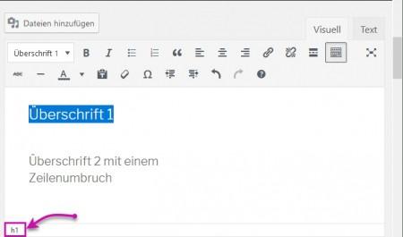HTML-Tag unten